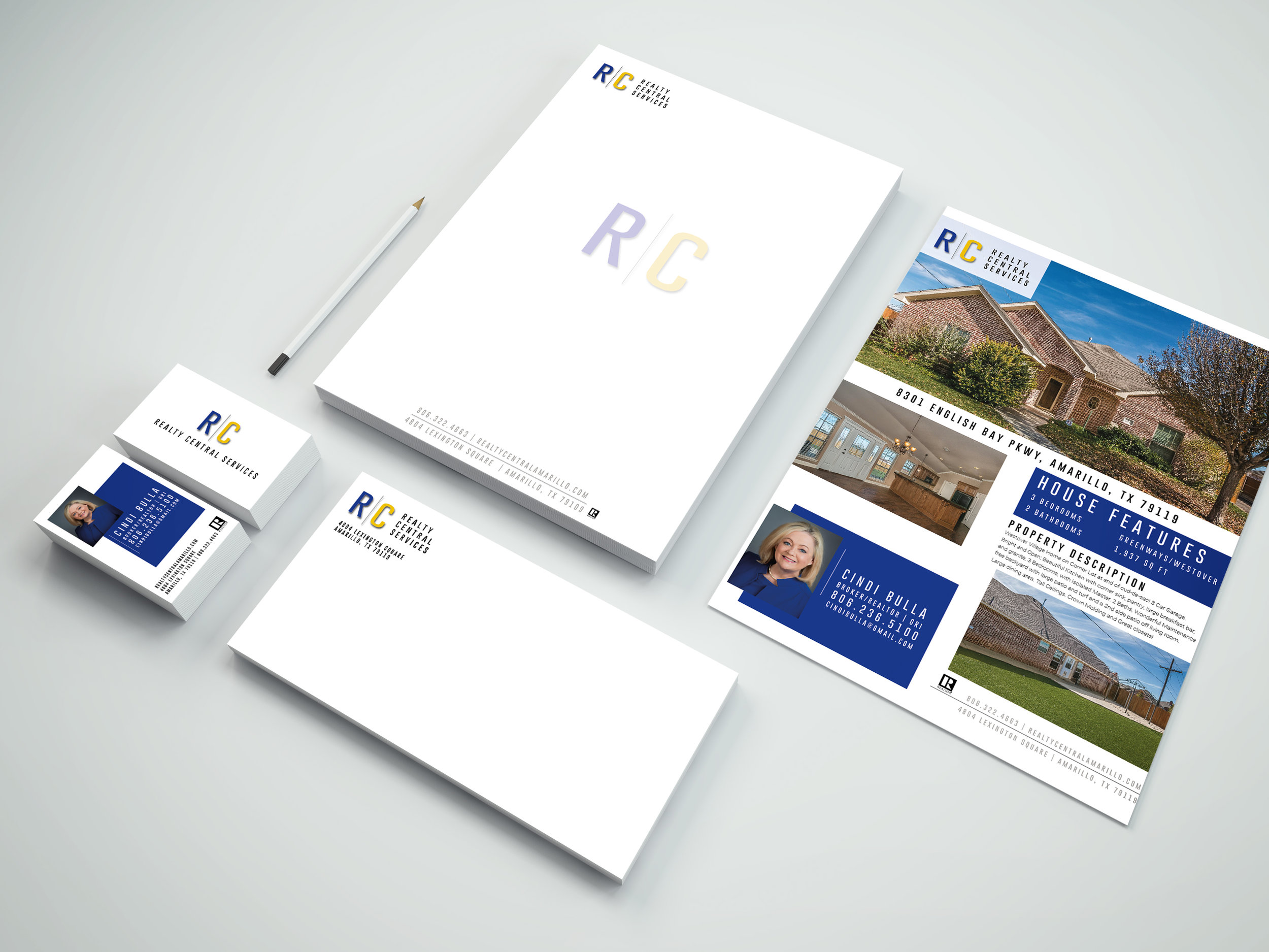 REALTY CENTRAL SERVICES |  REBRANDING, WEBSITE OPTIMIZATION, SIGN DESIGN, MARKETING MATERIALS, SOCIAL STYLING