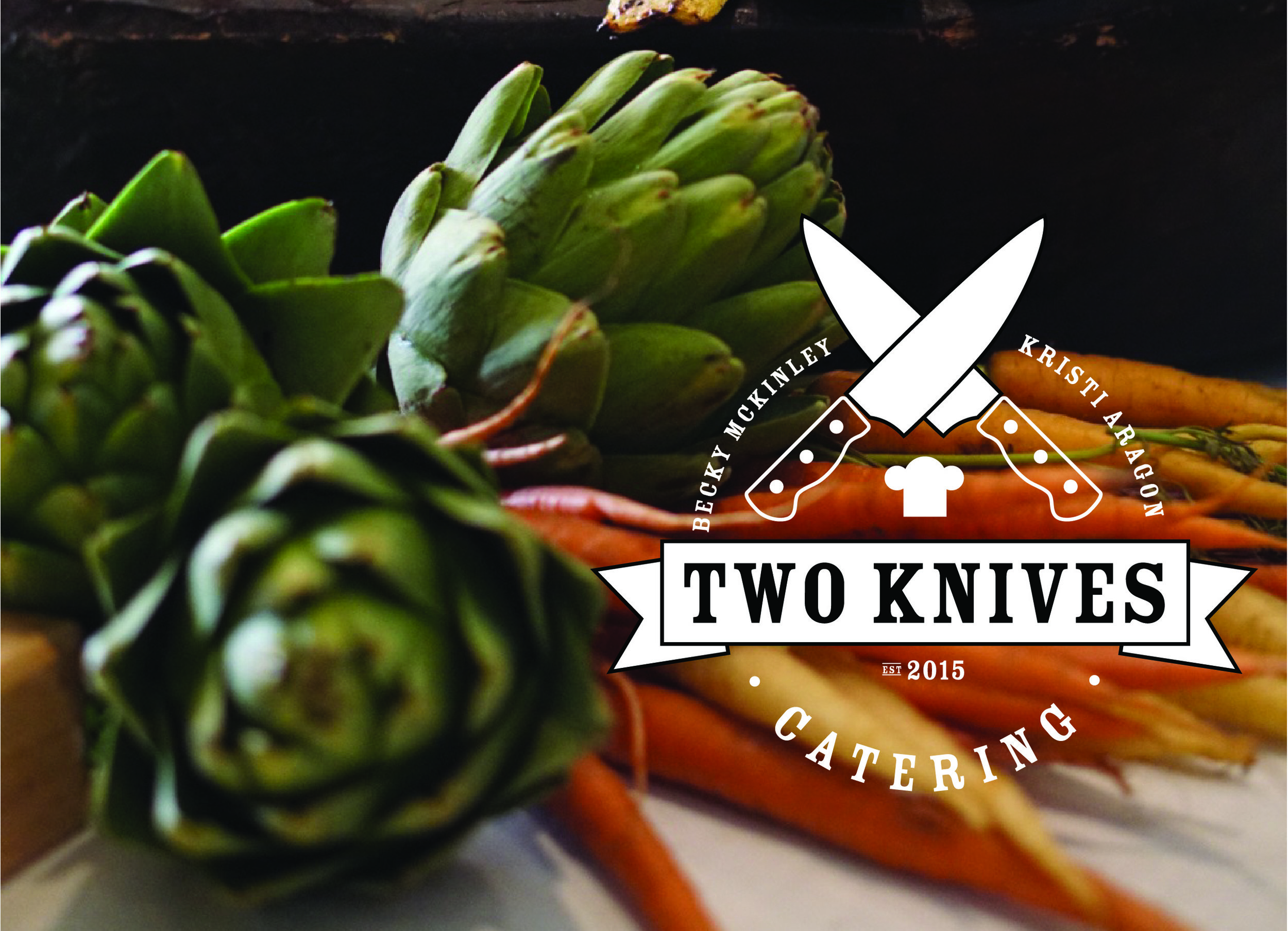 TWO KNIVES CATERING |  BRANDING, WEBSITE DESIGN + DEVELOPMENT, SOCIAL STYLING, EMAIL MARKETING