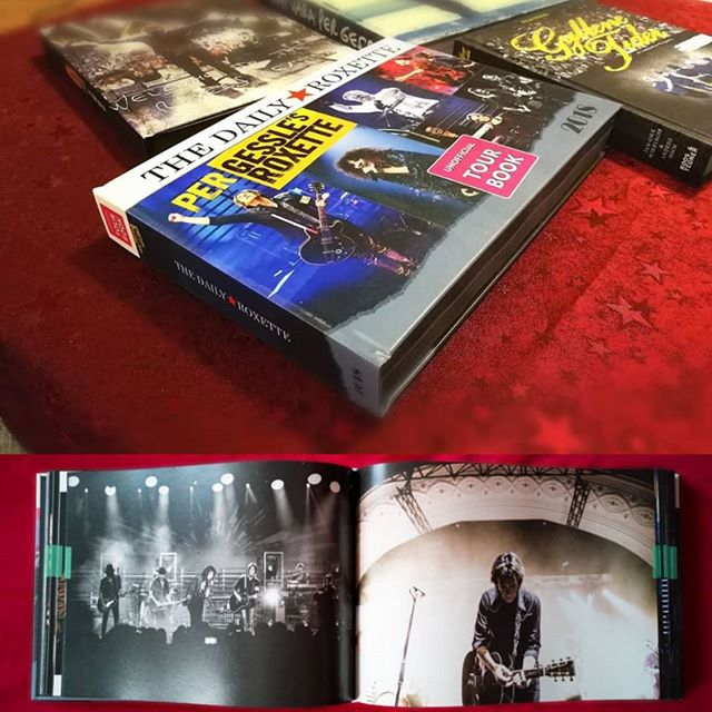 SOON! 410 pages full of memories #roxette #book #roxbooks #listenroxette #tour #2018 #dailyroxette #designmediastudio Preorder www.roxbooks.de