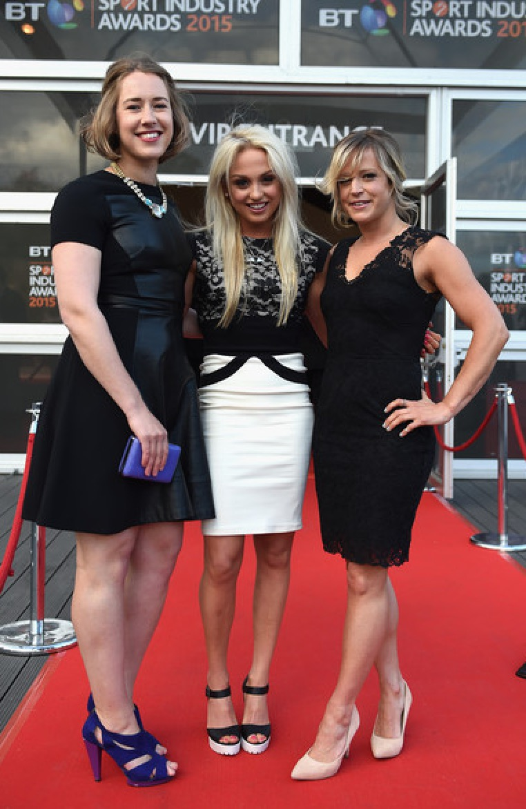 With the ladies at the Sports awards
