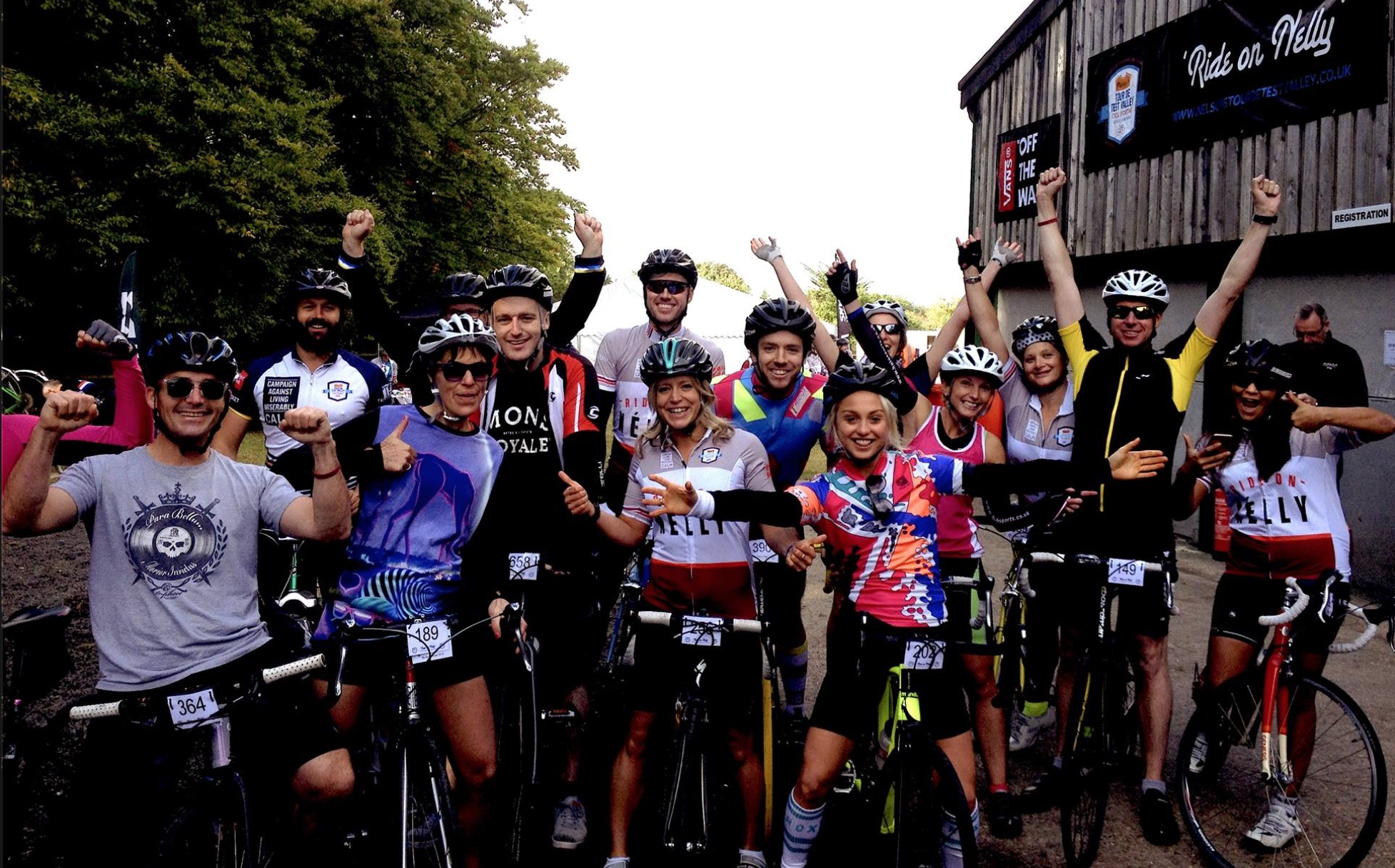 THE START of 50 Miles with the team!