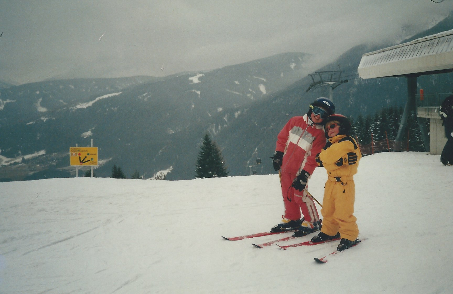 Me (still on skis!) with the 'lil bro