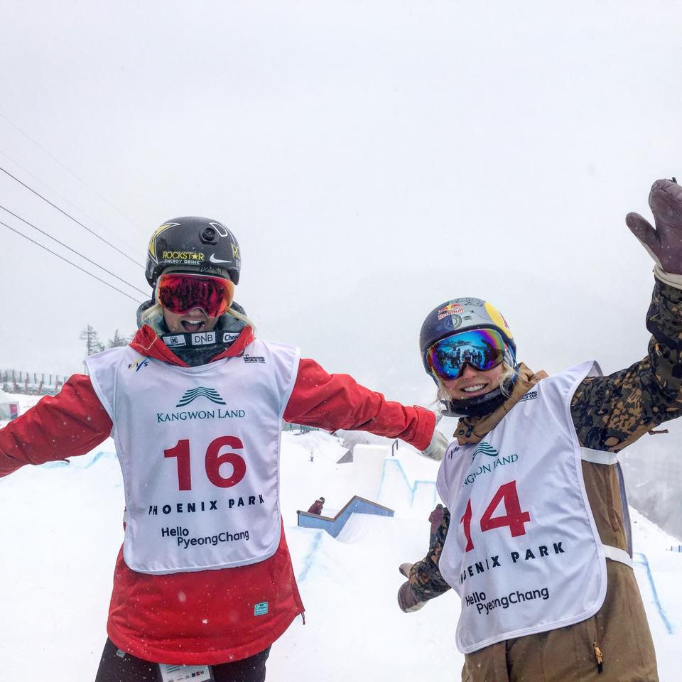 Me and Silje Norendal on the first day of training! COLD + Snowy..