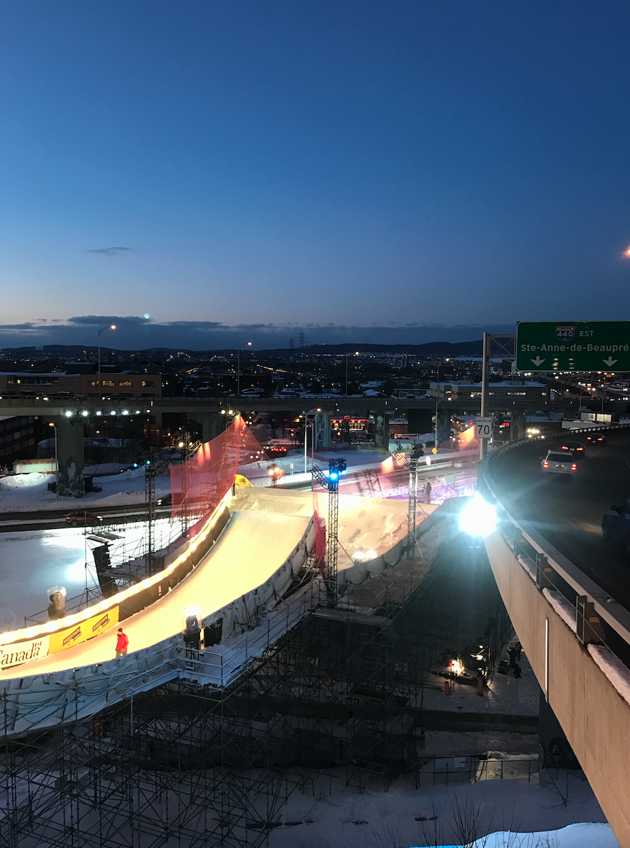 A unique setting for the Big Air in-between a motorway!