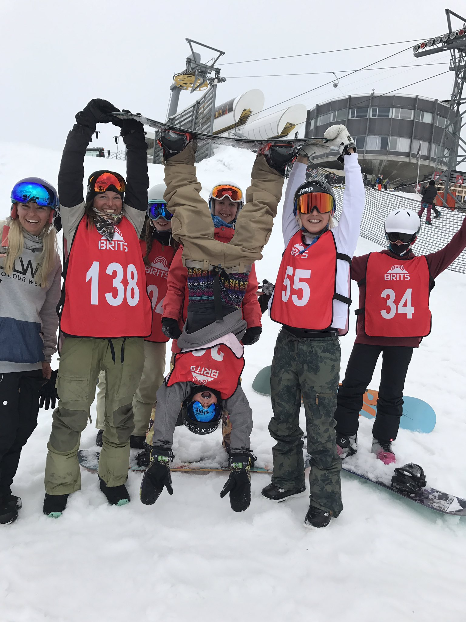 The Brits Big Air Finals crew.