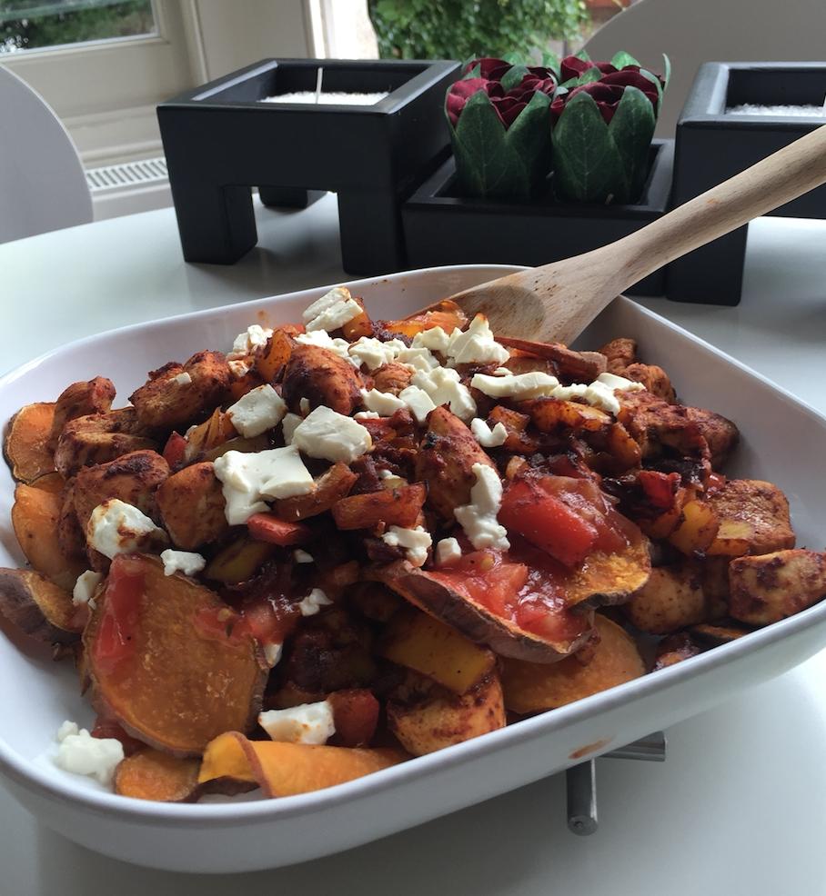 Healthier take on Nachos. My Sweet Potato ones.