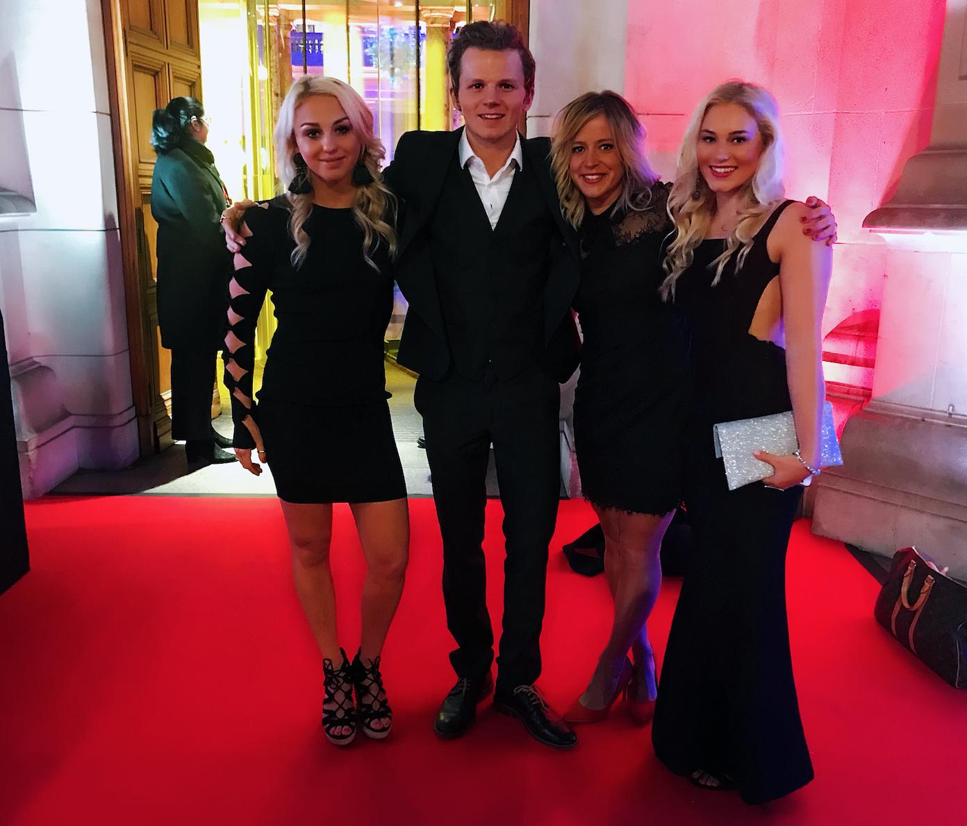 On the red carpet at the Team GB Ball in London w/ The GB Park and Pipe Squad. Jamie Nicholls, Jenny Jones, Katie Ormerod.