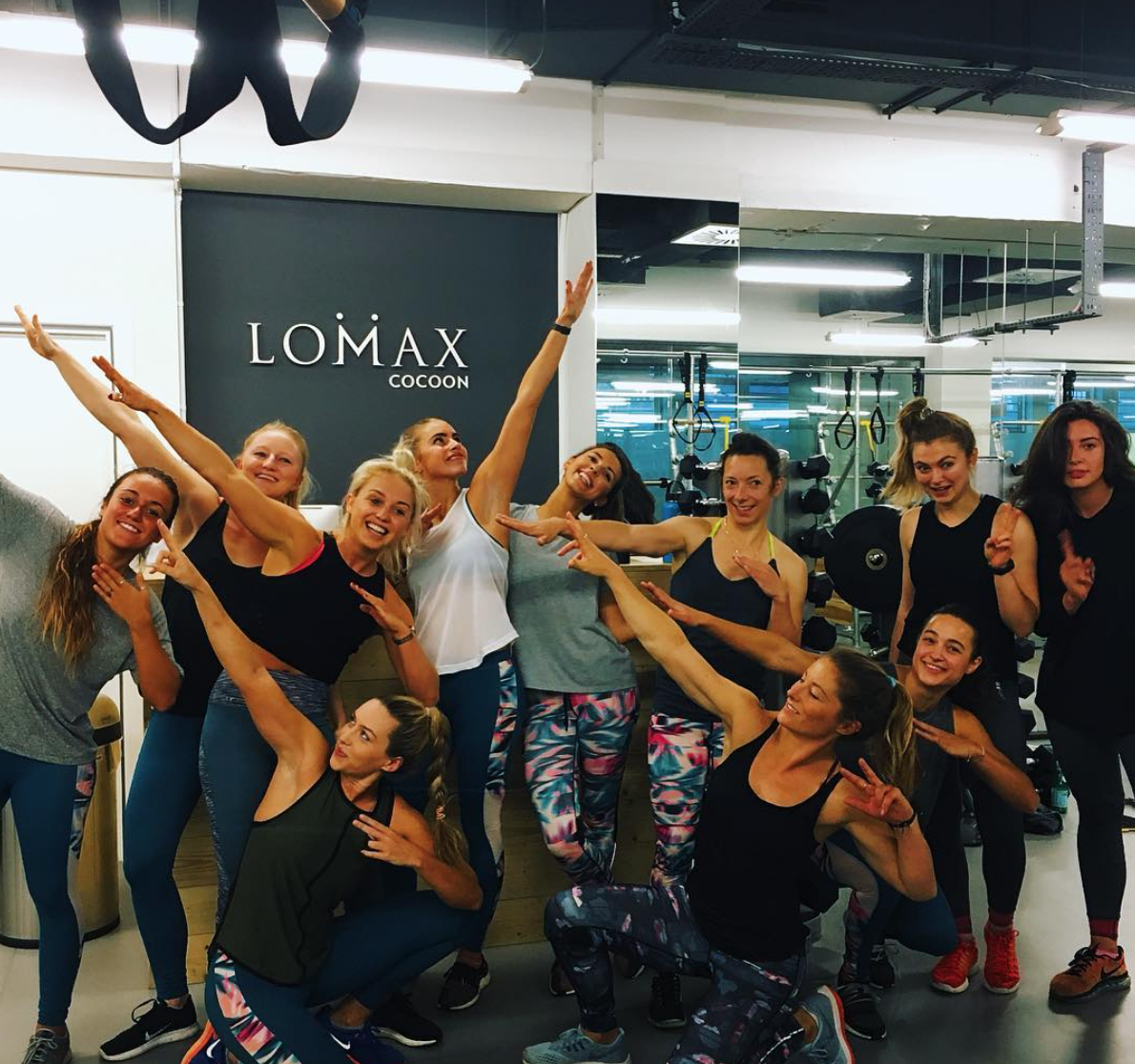 Strong Women for the Roxy Fitness event, at Lomax Cocoon. I ran the session with Lomax Trainer Charlie Launder, to give the girls a 45 minute blast before fuelling up with Nutrii, before the Yoga session with Kim Hartwell. Fantastic to have such a strong squad, all representing in bright lycra :)