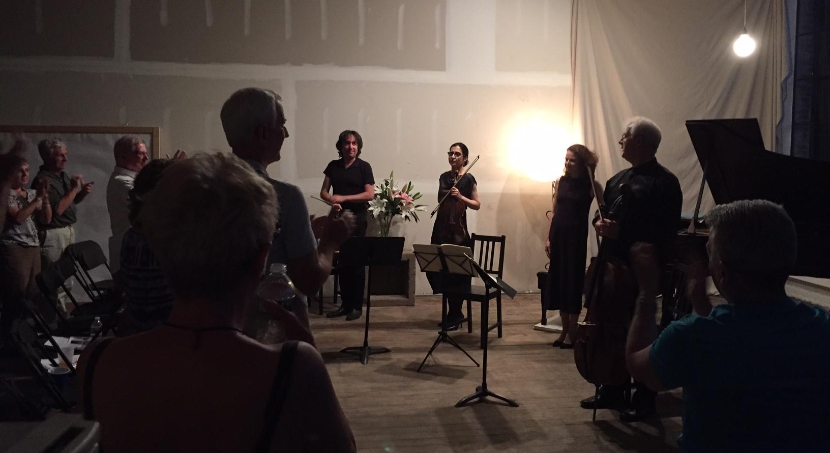 After Brahms Quartet peformance, at the Newburgh Music Festival.