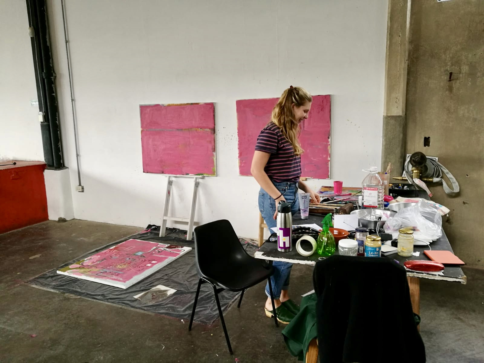 Pink. - That sums up my work for now.Artist in residence with La Ira de Dios at cheLA studio in Buenos Aires, Argentina.September- October 2018.