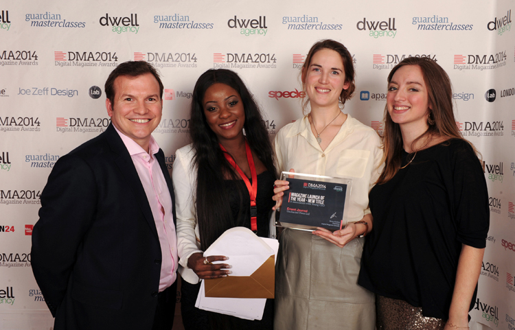 Ernest Journal wins New Launch of the Year, 2014