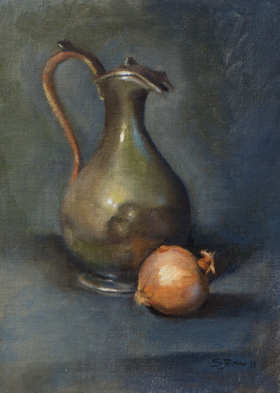Pewter Pitcher II