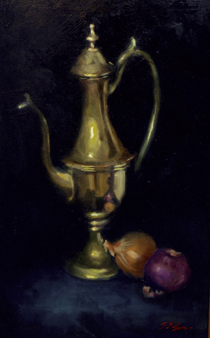 Brass Jug   Oil on board