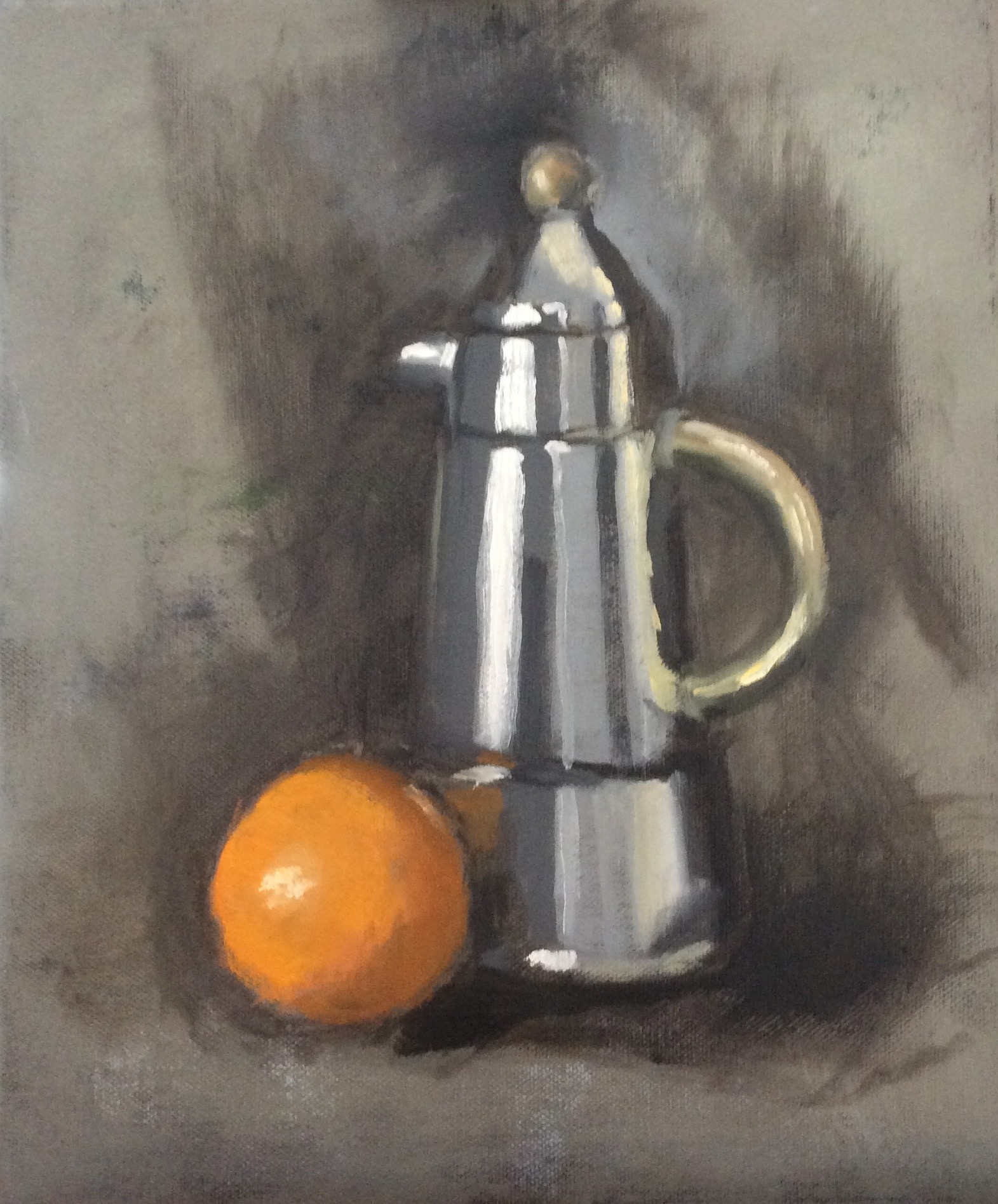 Coffee Pot   Oil on canvas