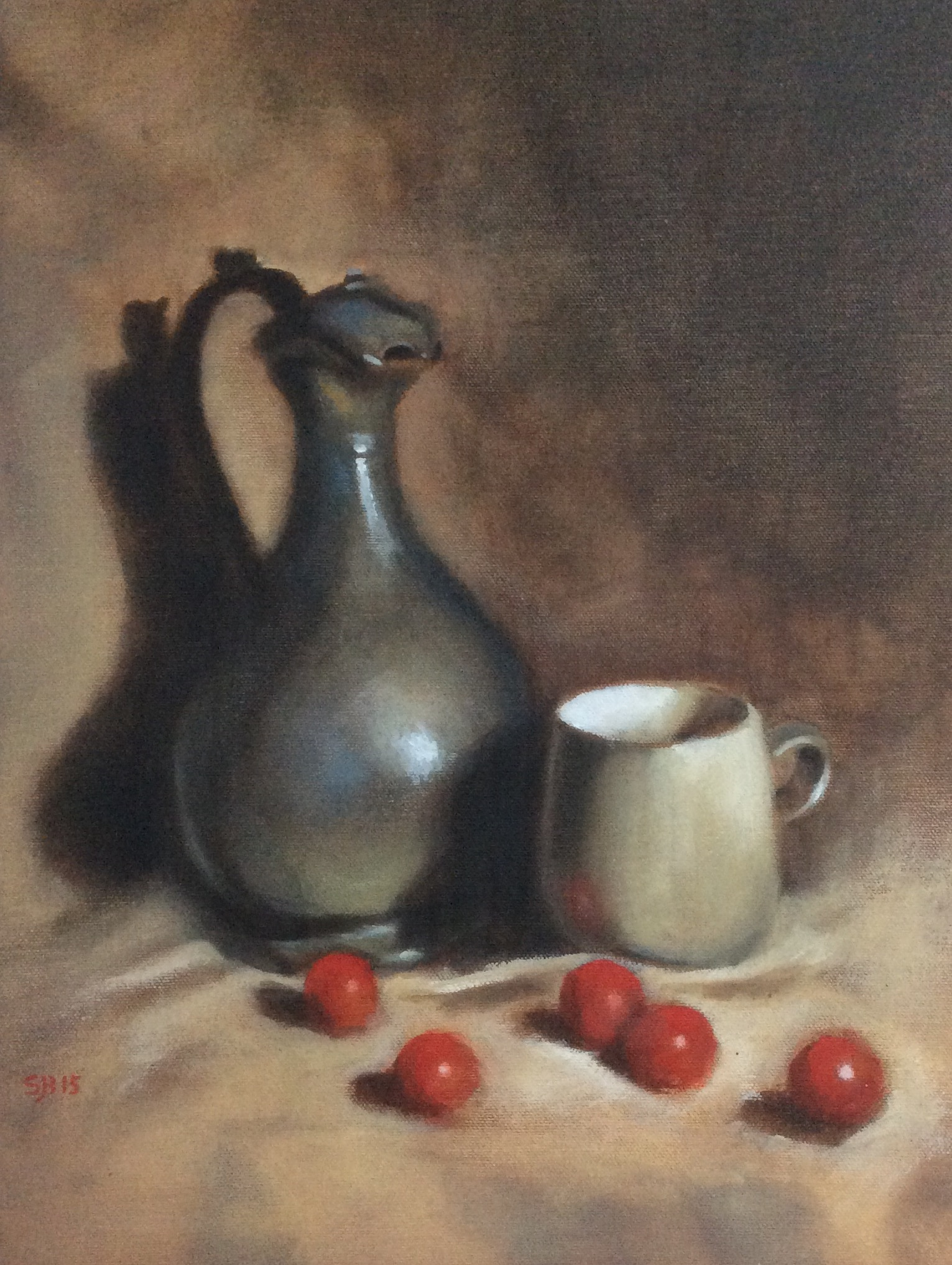 Pewter Pitcher   Oil on canvas