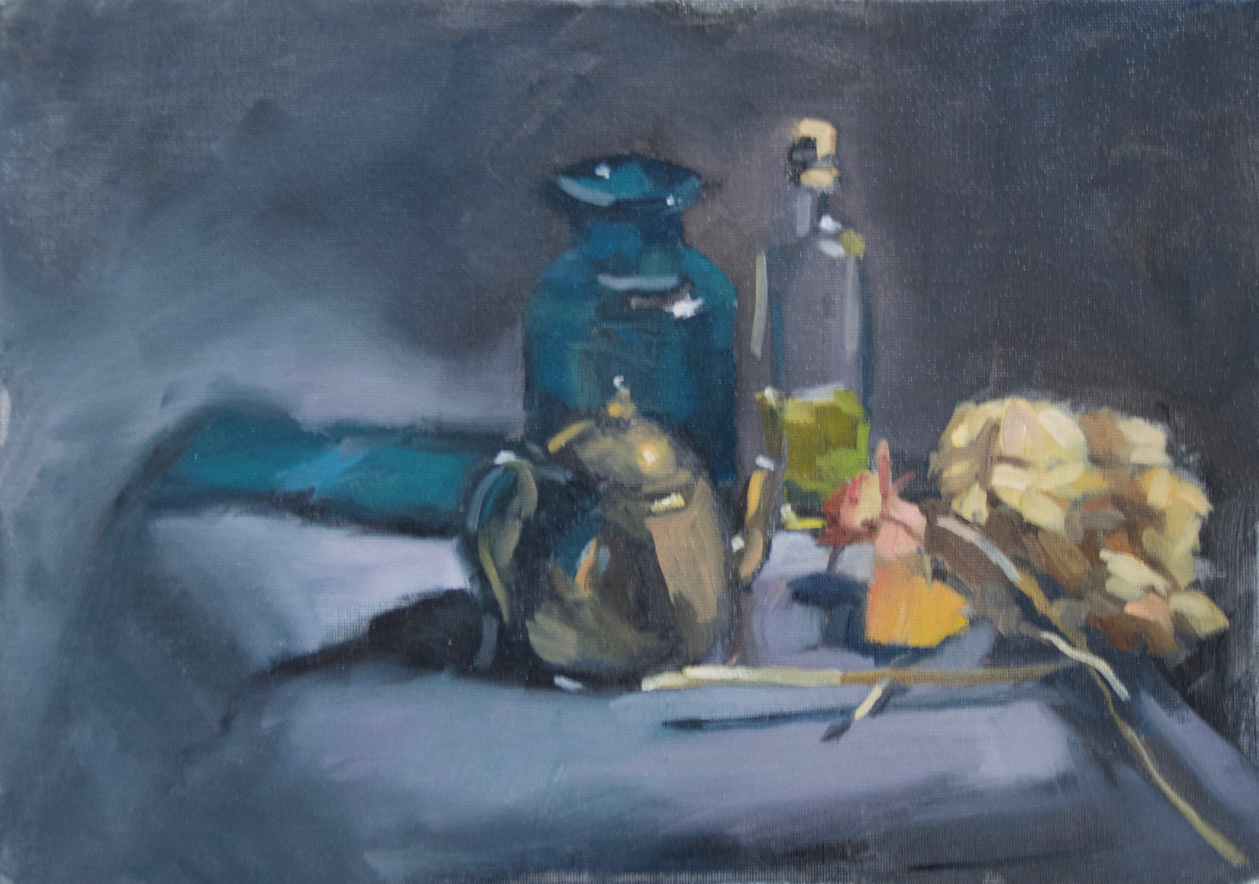 Still Life Sketch    Oil on Board