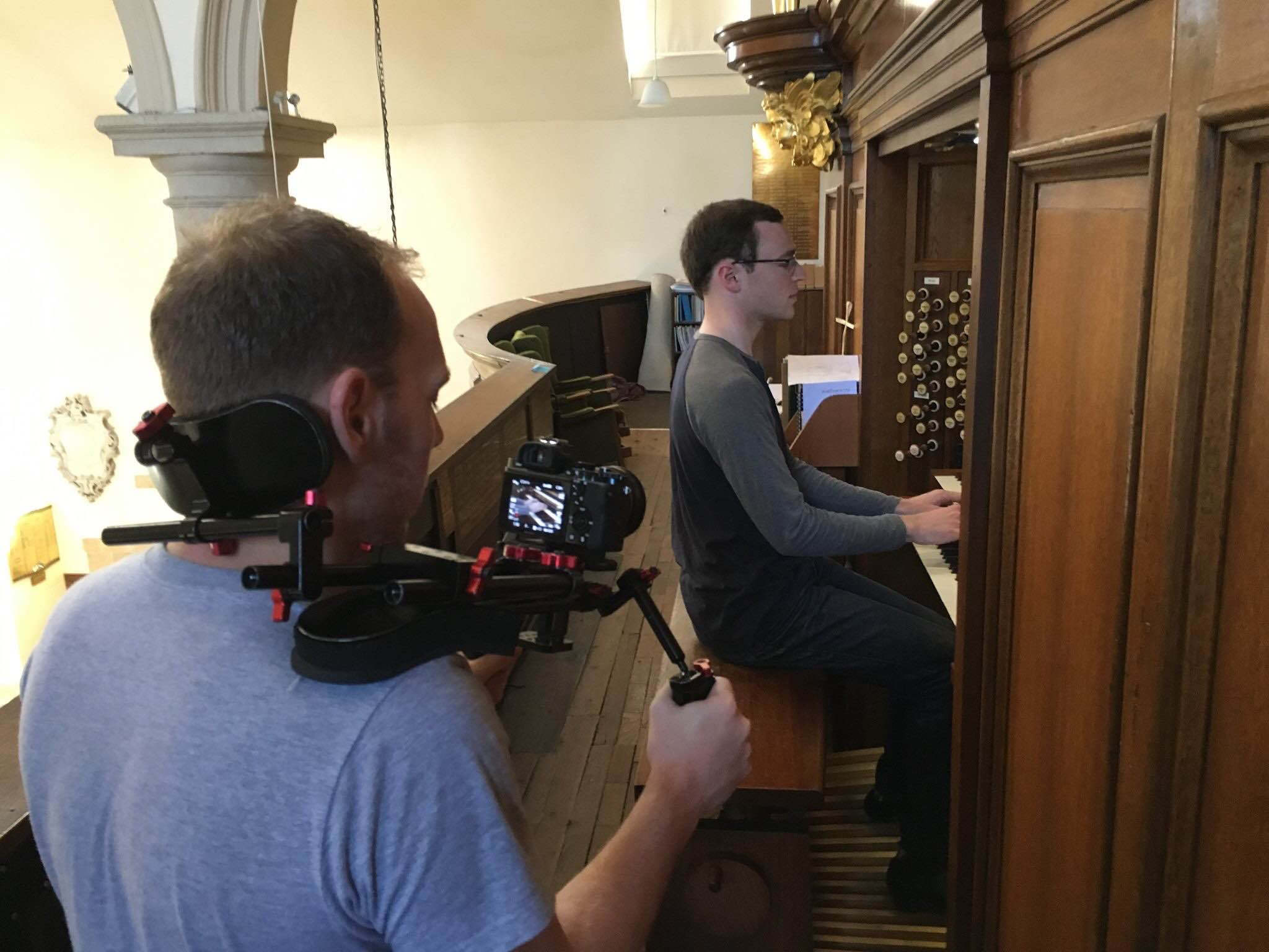 Two views from the organ loft...