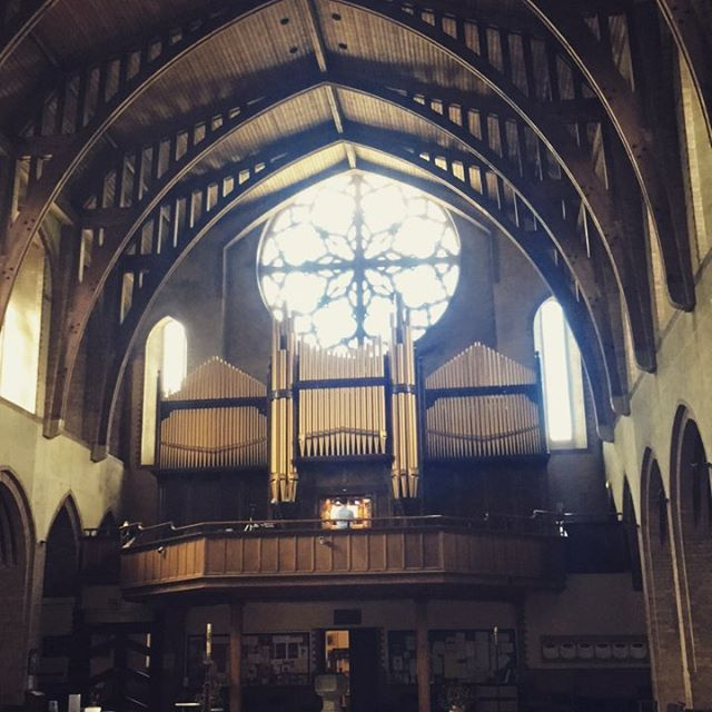 Recital at St Barnabus Church - beautiful building to play in #trumpet #organ #trumpetandorgan