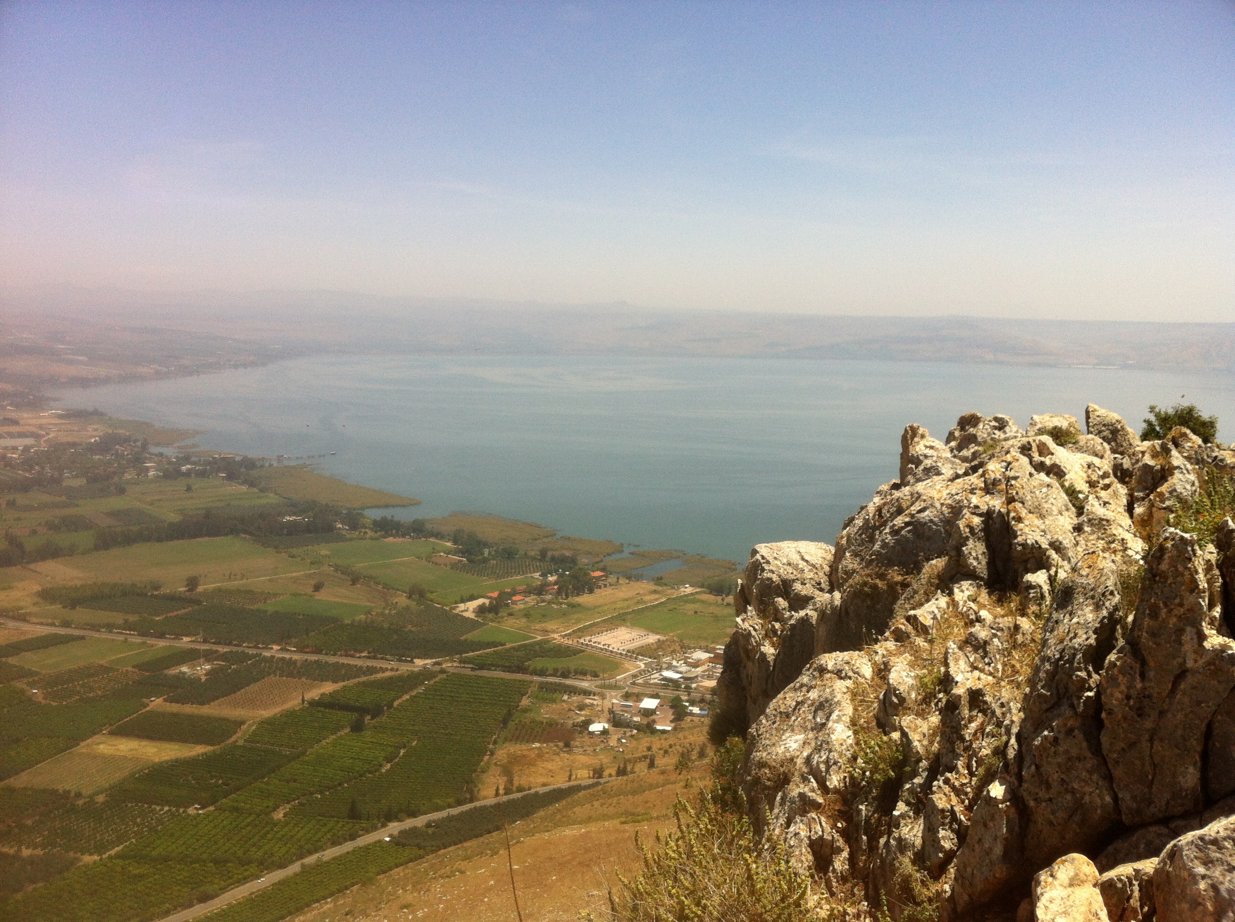 Sea of Galilee from the hillside