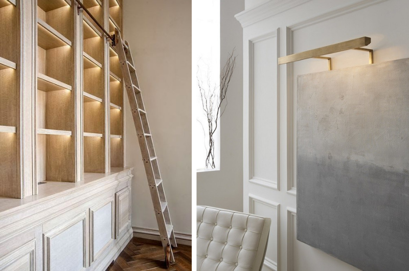 Photos via Focal Point Styling/Rupert Bevan (left) and Circa Lighting/J. Randall Powers (right)