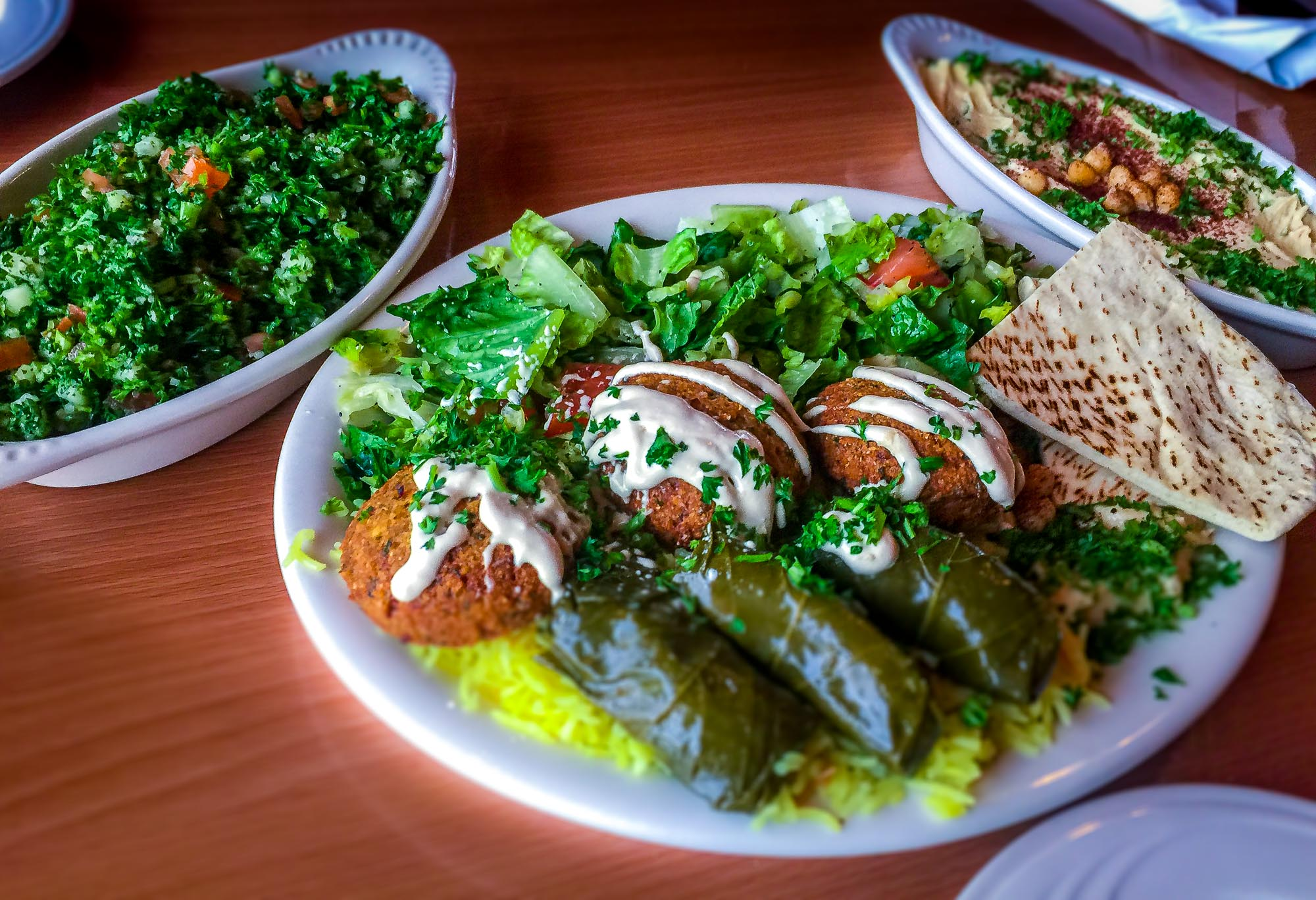 vegetarian plate.