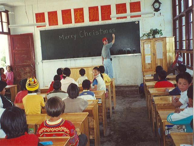 Brad teaching English