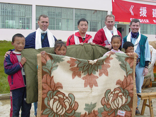 Over 80 students received new bedding