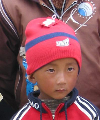 Young guy with new stocking cap