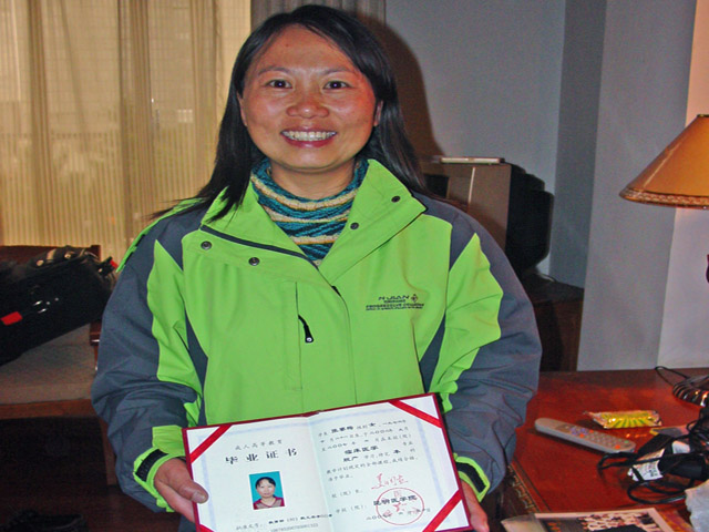 Medical student with diploma (3rd doctor funded by SCF)