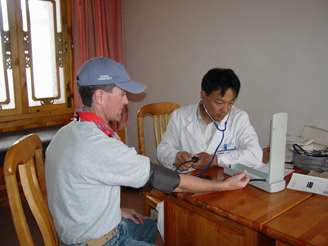 Medical student working at clinic (2nd doctor funded by SCF)