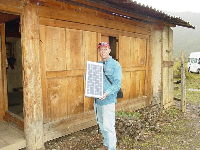 Scott with solar panel