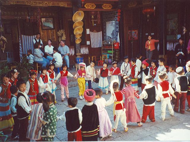 Little orphanage children dancing