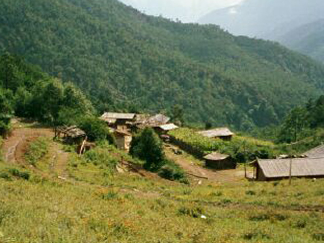Typical yak herder home