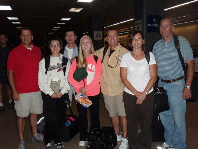 Group leaving Des Moines, Iowa
