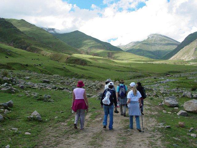 Group on trek to visit Nomadic yak herders