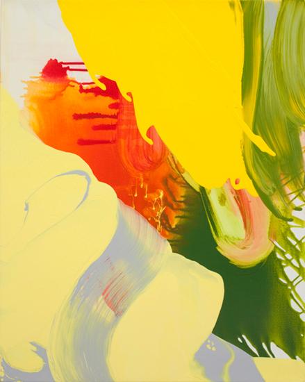"""behind the sun 2009 acrylic on linen  30 """" x 24"""""""