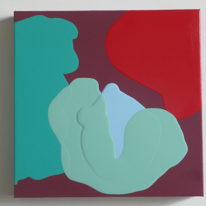 """Tulip II, 2014 acrylic on canvas 12"""" x 12"""""""