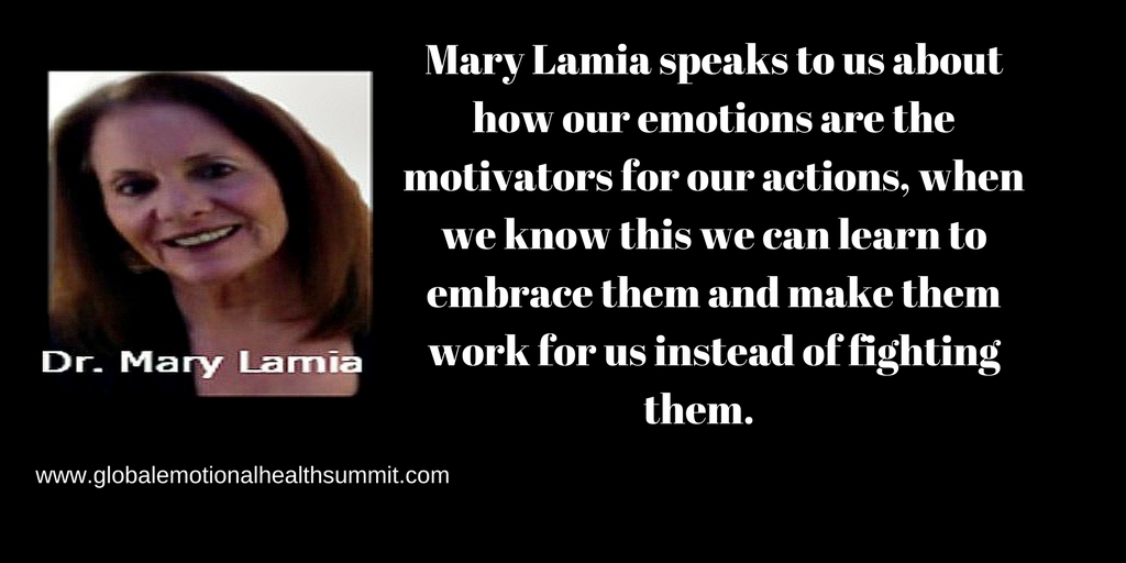 Mary Lamia speaks to us abouthow our emotions are the motivators for our actions, whenwe know this we can learn to embrace them and make them work for us instead of fighting them..jpg