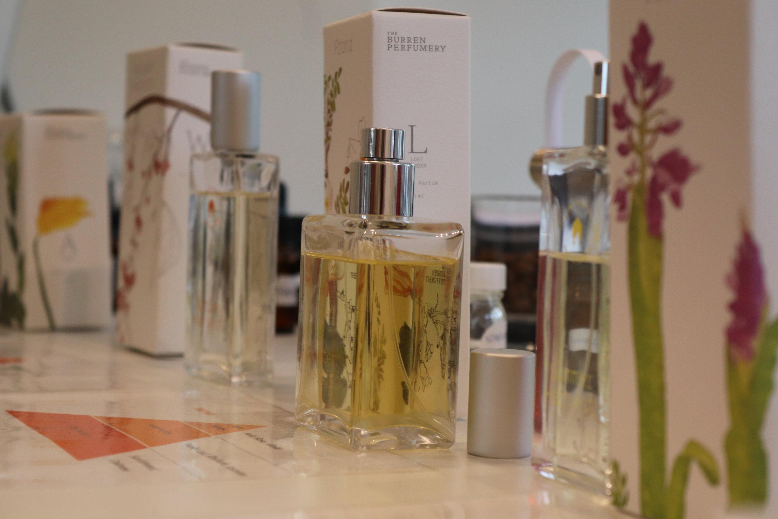 Beautiful perfumes - All made at the Burren Perfumery.