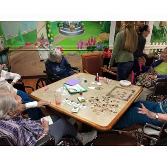Senior Residents interact with a GG Chapter