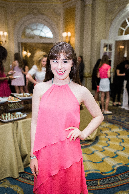 Glammys musical guest (and ambassador for GlamourGals) Kristina Lachaga.