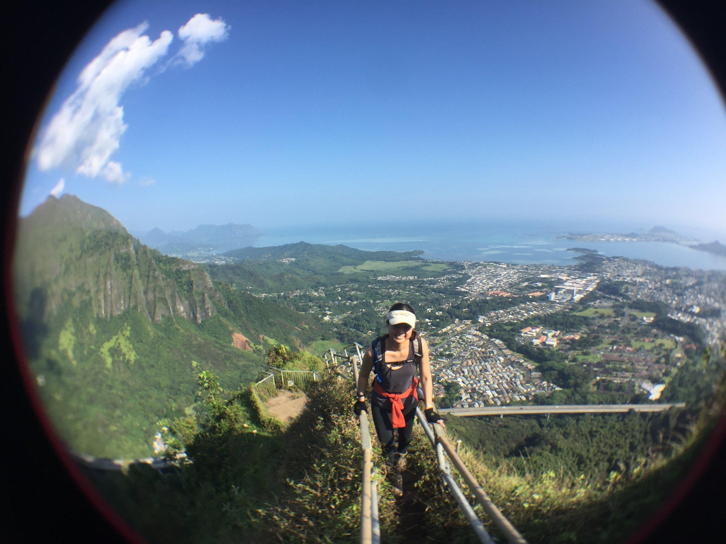 Carolyn, hiking in Hawaii in January of this year.