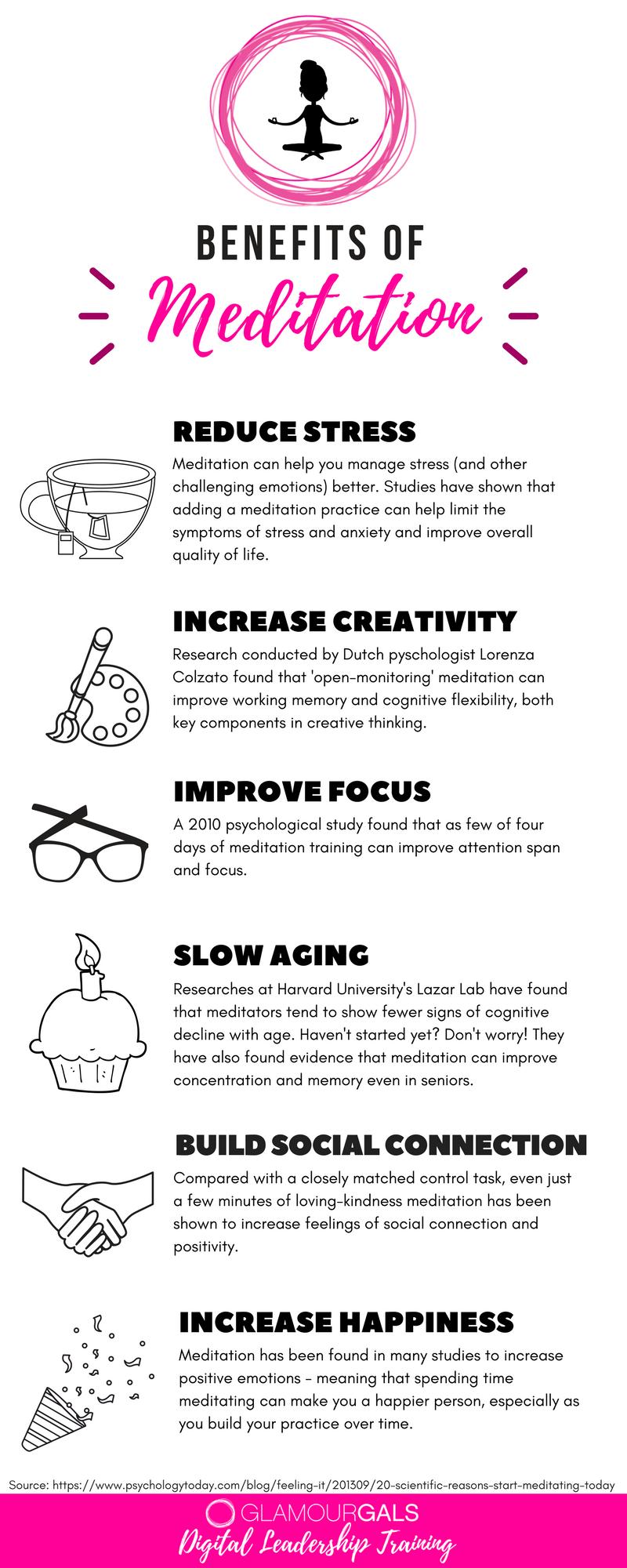 Reasons to Meditate - GlamourGals Digital Leadership Training