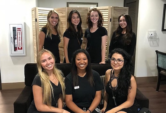 Kristina and her chapter members.