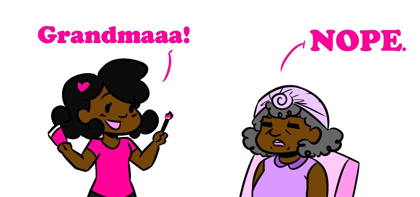 Ask Sam No Makeup on Grandma.png