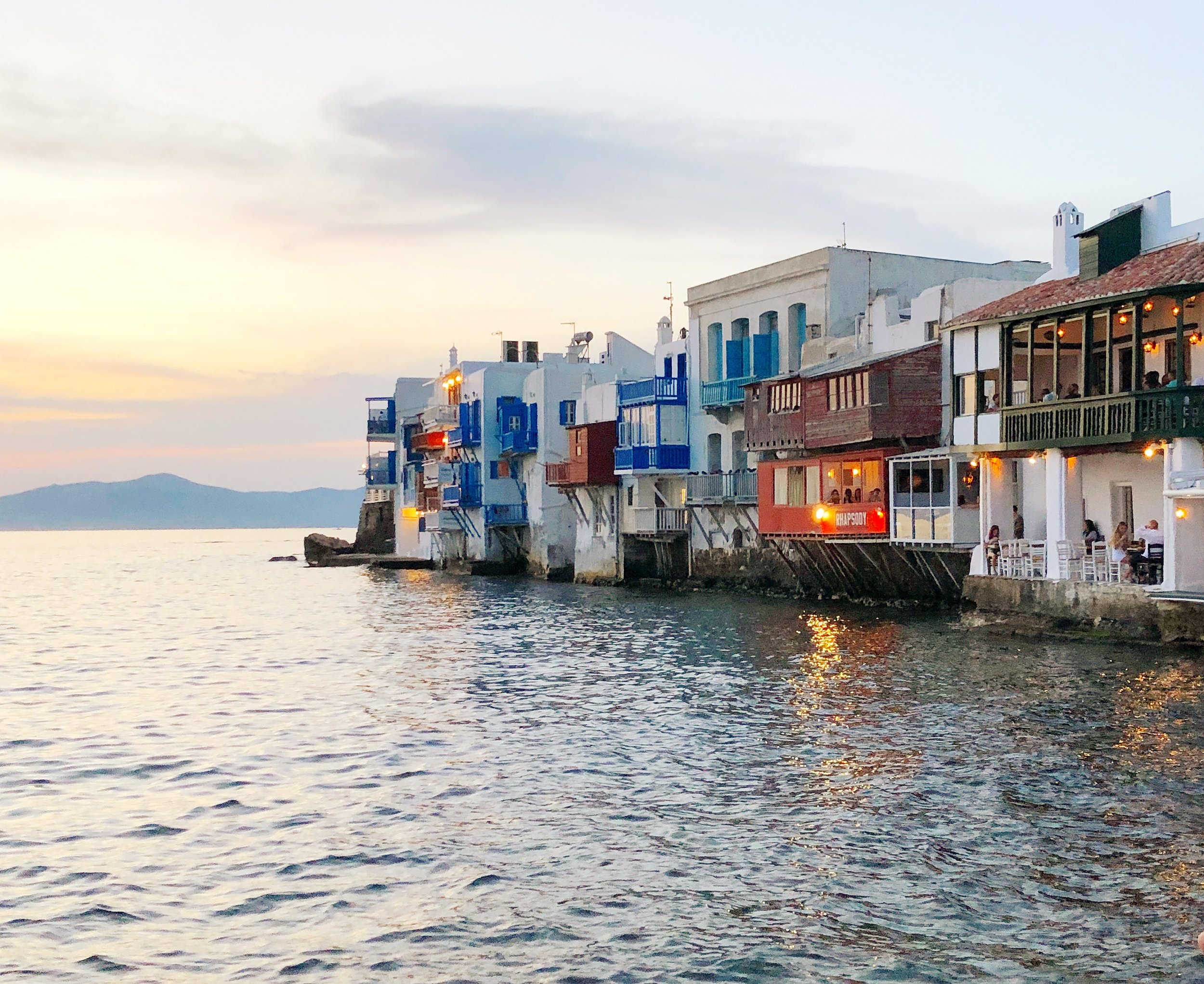 The Little Venice neighborhood in Mykonos - can't beat that view!