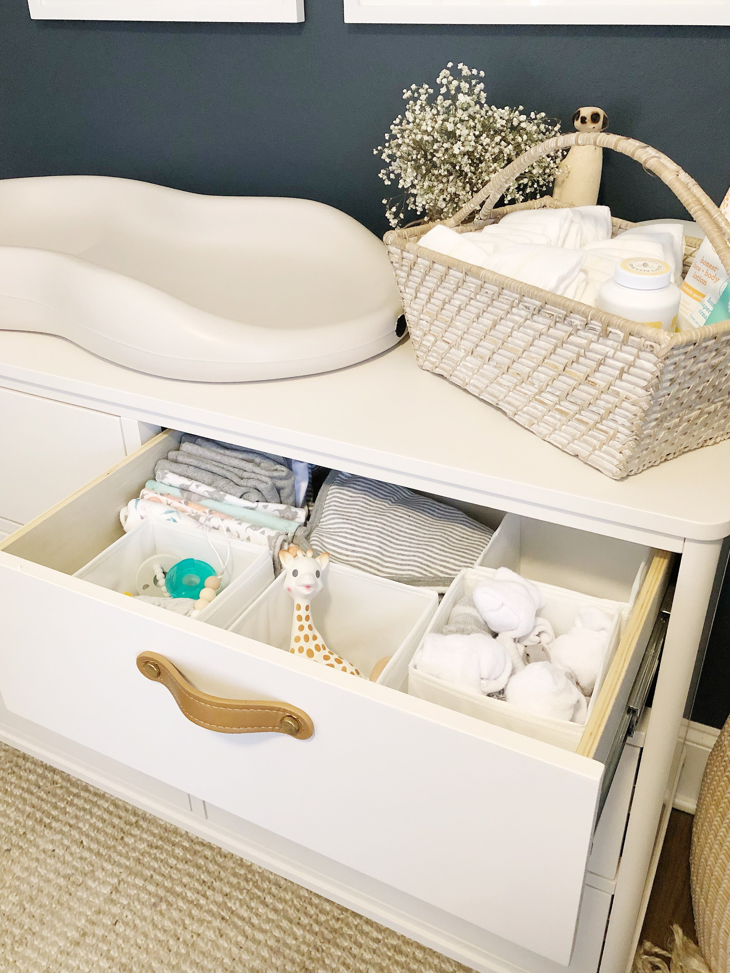 Baby registry must haves and essentials. Tanner dresser.