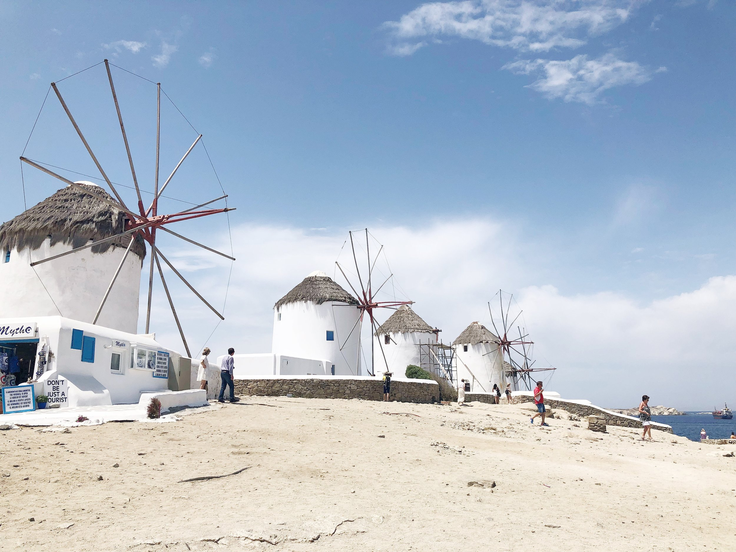 The windmills in Mykonos.