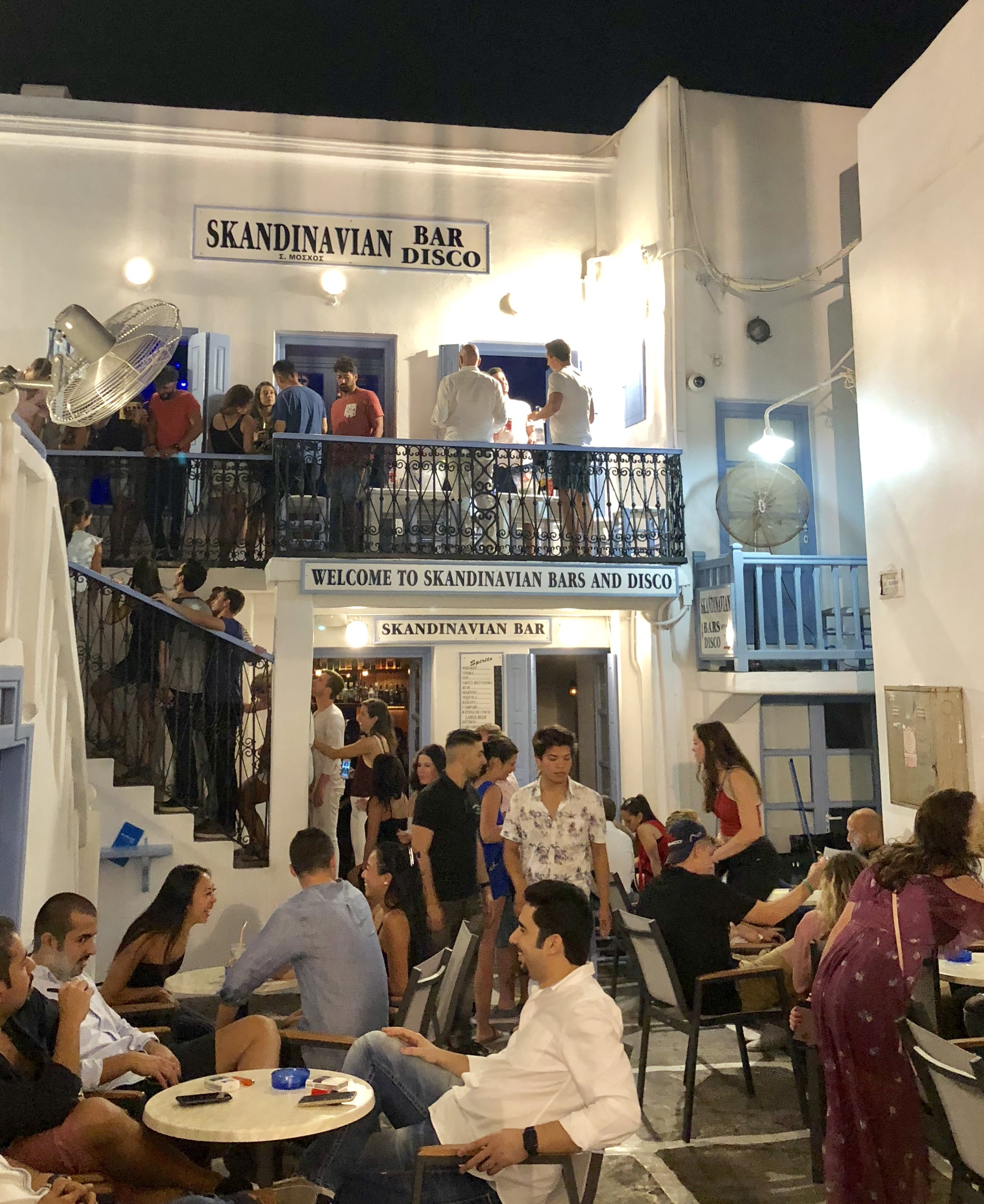 The nightlife in Mykonos lives up to the hype. Plan to stay up late and maybe stop in the Skandinavian - one of the most famous discos on the island!