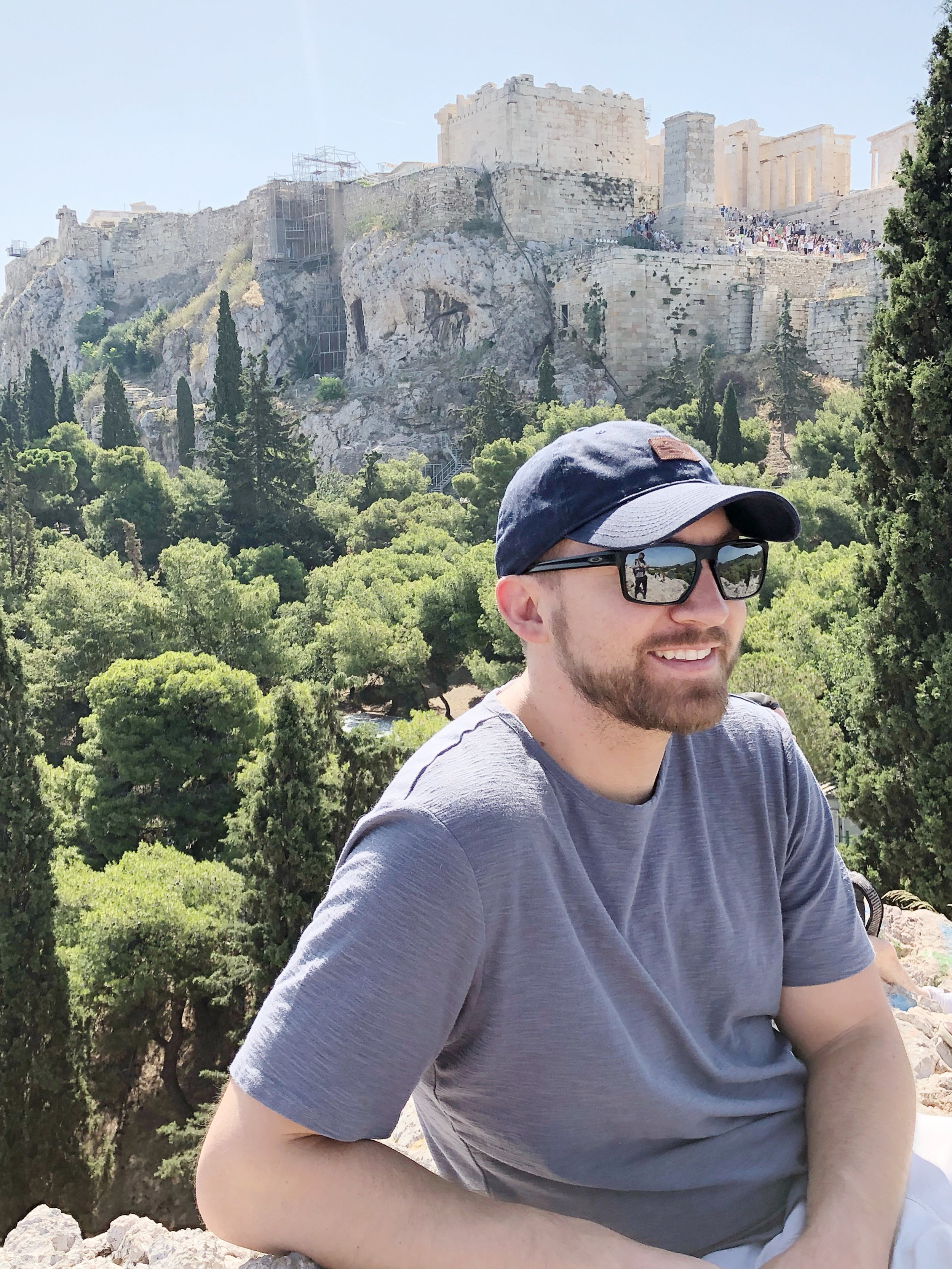 I loved this view of the Acropolis from Areopagus Hill.